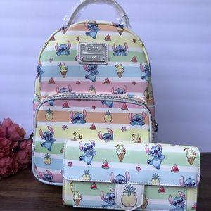 Loungefly Disney Lilo & Stitch Fruits Backpack set